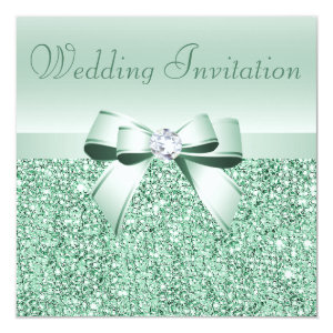 Mint Wedding Invitations Custom Personalized Wedding