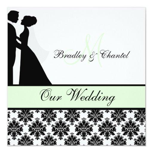 Mint Invitations Wedding: Mint Green Wedding Couple Wedding Invitation
