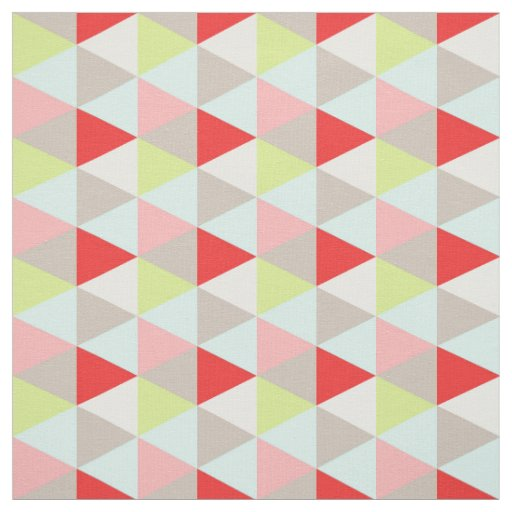 Mint Red Gray Pink White Teal Geometric Pattern Fabric ...