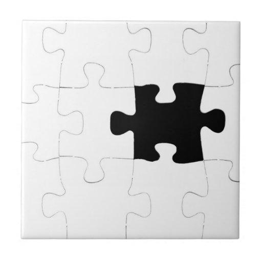 Missing Puzzle Piece Quote: Missing Puzzle Piece Ceramic Tile