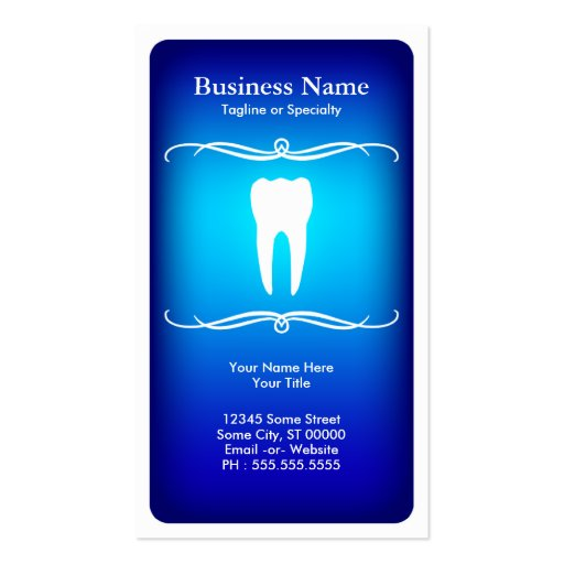 Mod dental double sided standard business cards pack of for Dental gift certificate template