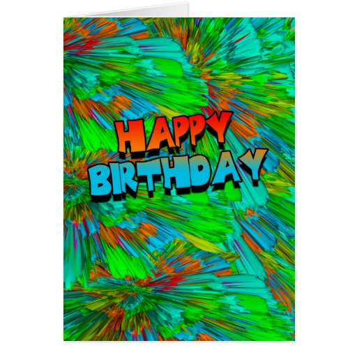 modern 3d abstract birthday card happy birthday zazzle. Black Bedroom Furniture Sets. Home Design Ideas