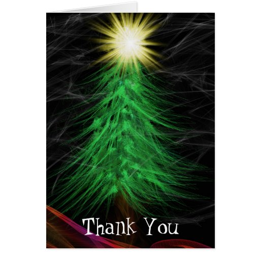Modern Art Merry Christmas Thank You Card Zazzle