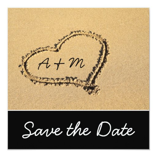 Mid Century Romance Save The Date Cards: Modern Beach Save The Date Cards