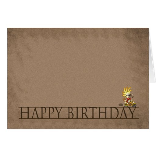modern birthday card happy birthday cartoon co zazzle. Black Bedroom Furniture Sets. Home Design Ideas