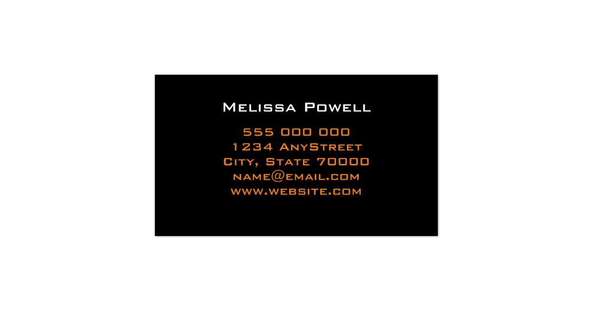 Modern Chic Business Card Template Double Sided