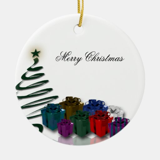 Modern Christmas Tree Graphics w/ Bright Presents ...