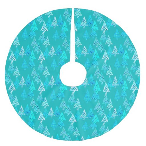 Turquoise And White Christmas Tree: Modern Flower Christmas Trees
