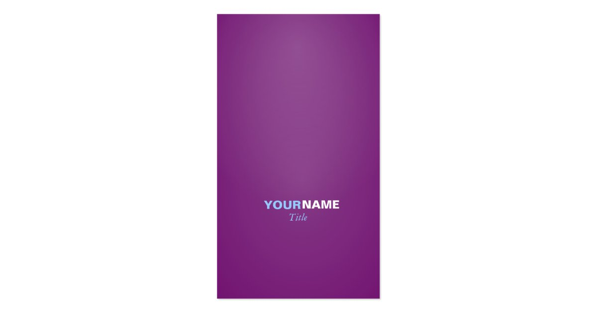 Modern font in two colors with ( Purple ) Business Card ...