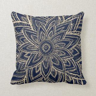 Navy Gold Pillows Decorative Amp Throw Pillows Zazzle