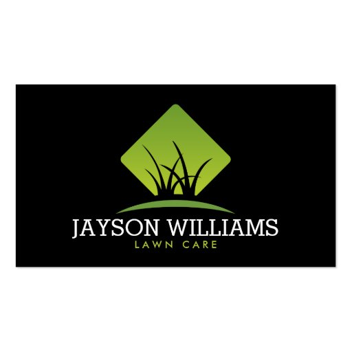 Modern Lawn Care Landscaping Grass Logo Ii Business Card