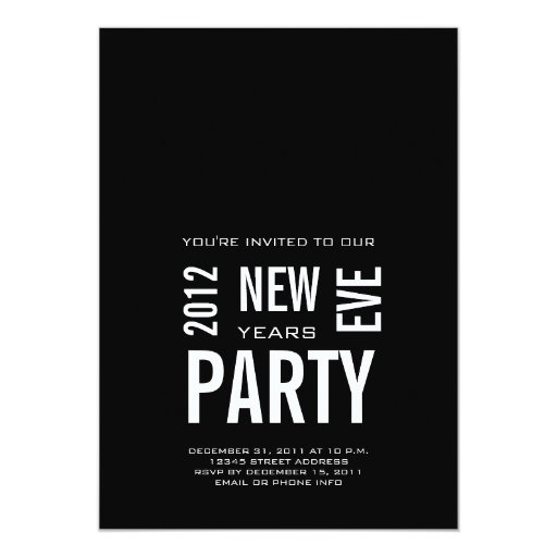 Modern New Years Eve Party Invitation | Zazzle  Modern New Year...