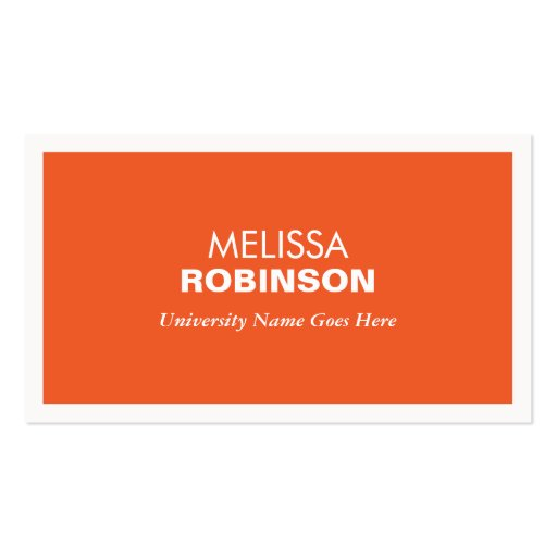 university id card template - modern orange business card for college students zazzle