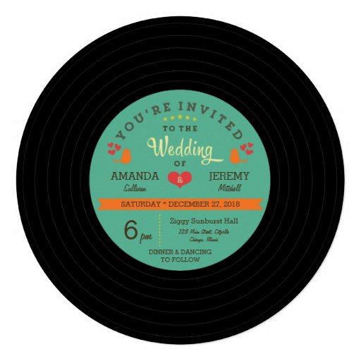 Record Wedding Invitations: T-Shirts, Art, Posters & Other Gift