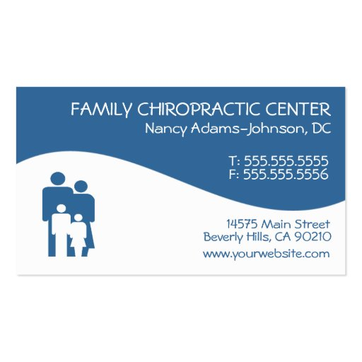modern swirl family chiropractic business cards  zazzle