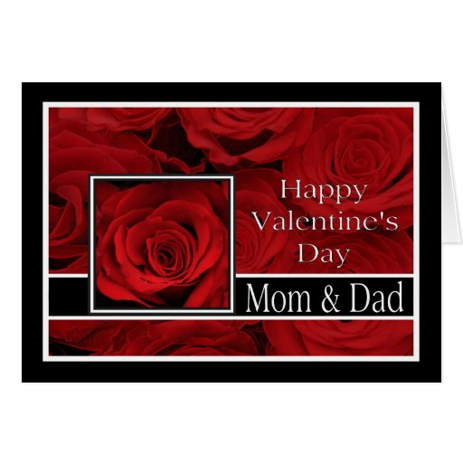 Mom And Dad Happy Valentine's Day Roses Card