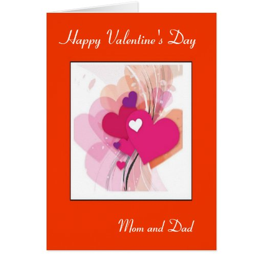 Mom And Dad Valentine's Day Greeting Card
