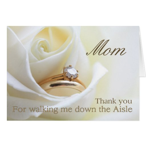 Mom Thanks For Walking Me Down Aisle Greeting Card