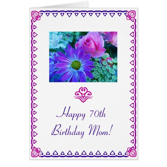 Moms 70th Birthday Greeting Card