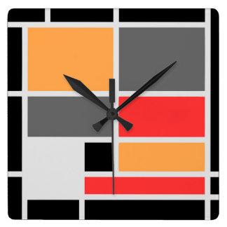 Piet Mondrian Wall Clocks Zazzle