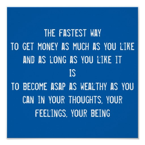 10 Motivational Quotes On Wealth Money: Money, LOA, Wealth Quote, Inspirational Motivation Poster