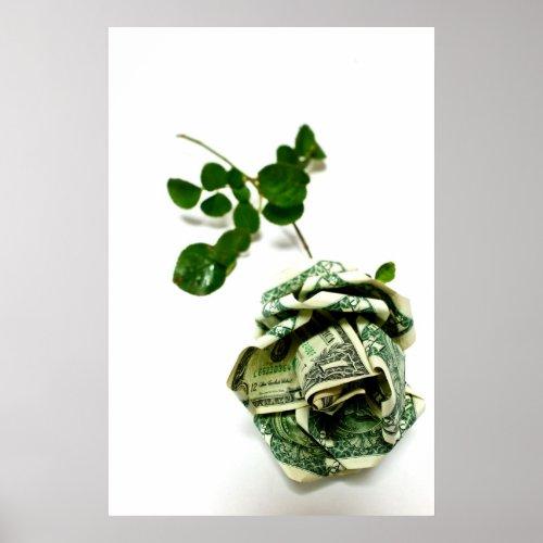 dollar bill origami rose - photo#25