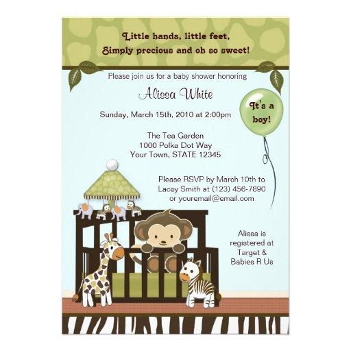 personalized safari baby invitations custominvitations4u com