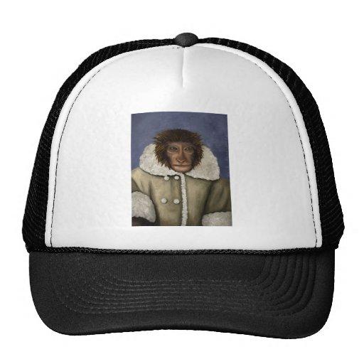 Monkey Wearing Jacket Mesh Hat   Zazzle