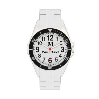 Monogrammed Easy to Read Watches for Seniors