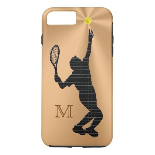 Monogrammed Tennis iPhone 7 Case for Men | Zazzle