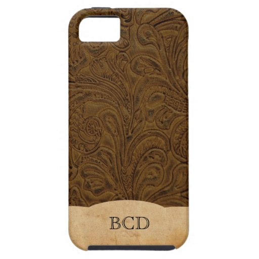 Monogrammed Leather Iphone  Case