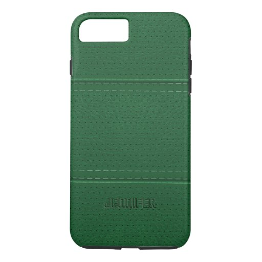 Monogrammed Leather Iphone Plus Case