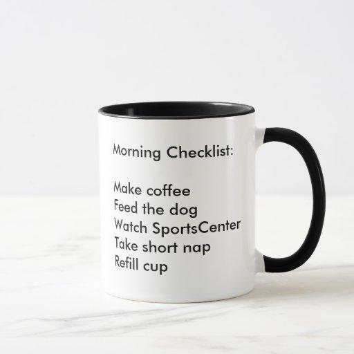 Morning Checklist Coffee Mug Zazzle