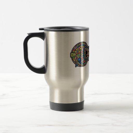Mosaic Mandolin Stainless Steel Travel Mug