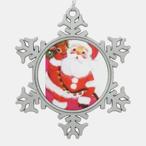 Most Beautiful Vintage Christmas Santa Reindeer Snowflake ...