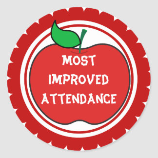 Most improved attendance stickers