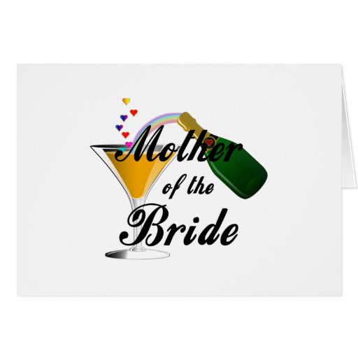 Mother Of The Bride Champagne Toast Card