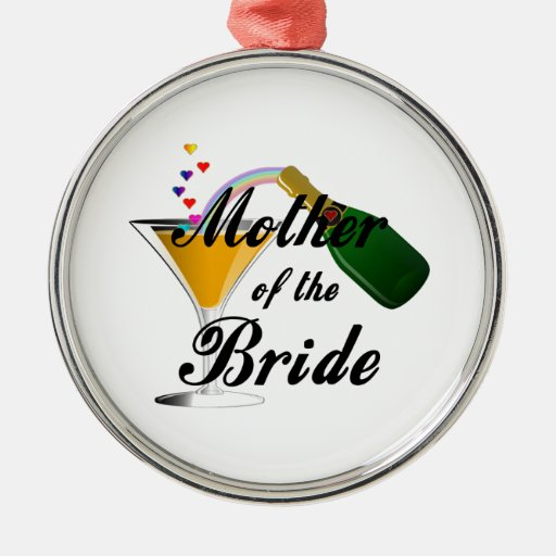 Mother Of The Bride Champagne Toast Metal Ornament