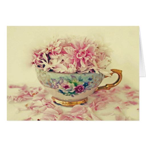 Mothers Day Teacup of Flowers Greeting Card   Zazzle