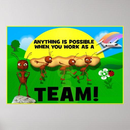 Motivational Ants Teamwork Poster | Zazzle