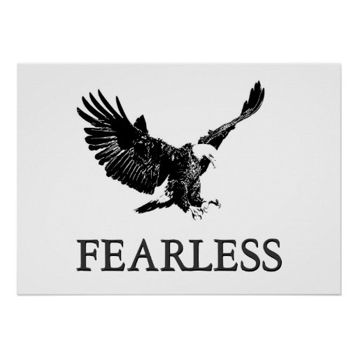 The Eagle Has Landed Quote: Motivational Fearless Landing Eagle Poster