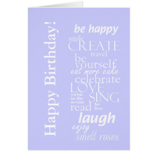 Motivtional Inspirational Happy Birthday Card