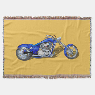 Motorcycle Throw Blankets Zazzle