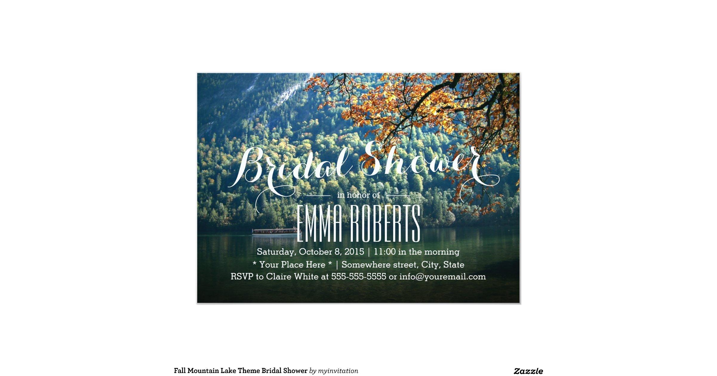 Lake Themed Wedding Invitations: Mountain_lake_theme_bridal_shower_invitations