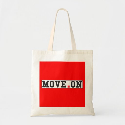 move on text message emotion red dot square tote bag zazzle. Black Bedroom Furniture Sets. Home Design Ideas