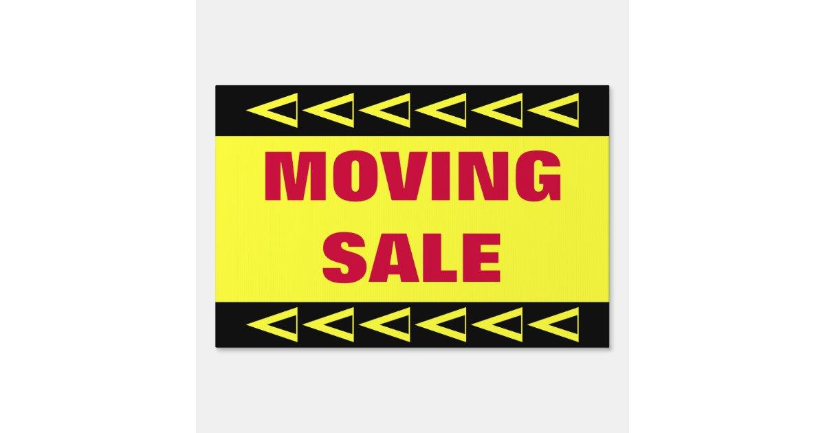 Moving Sale Yard Sign Zazzle