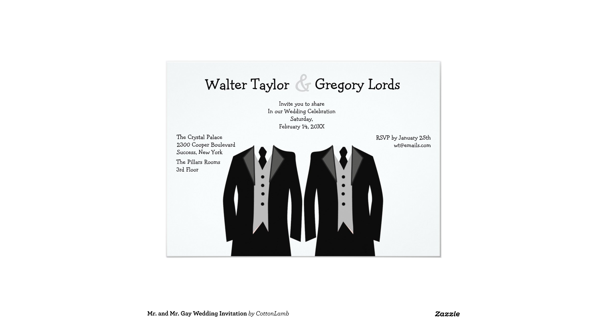 Gay Marriage Wedding Invitations: Mr_and_mr_gay_wedding_invitation