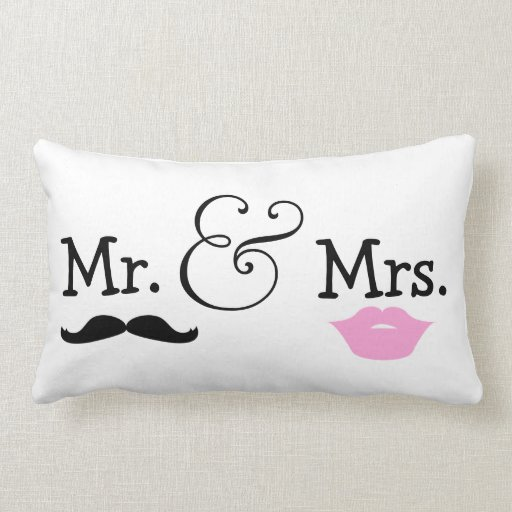 Mr And Mrs Bride And Groom Wedding Gift Pillows
