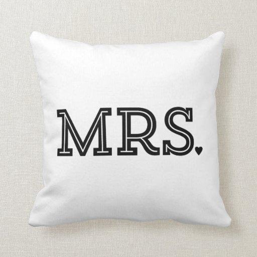 Mr. And Mrs. Cute Wedding Keepsake Newlywed Gift Pillow