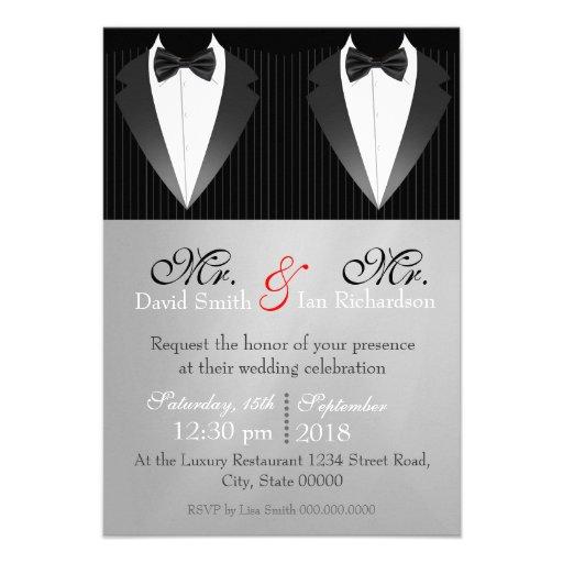 Personalized Tuxedo Invitations